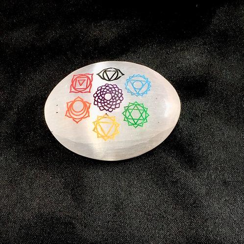 Selenite Soap 7 Chakra Engraved