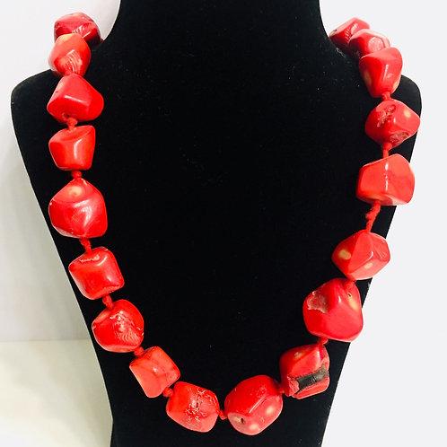 Coral Big Beads Mala