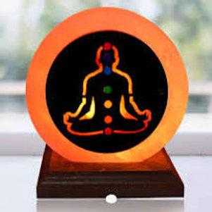 Natural Himalayan 7 Chakra Salt Lamp