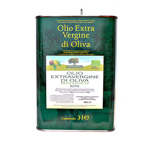 Olio EVO Blend IL BIOLOGICO DI LIVIA - Lattina 3,0 lt