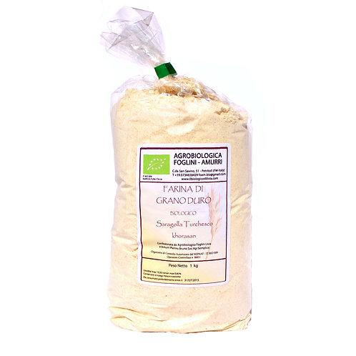 Semola integrale di Saragolla Turchesco Khorasan confezione 1 kg