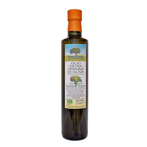 Olio EVO Monovarietale  ASCOLANA TENERA -Bottiglia 0,50 lt