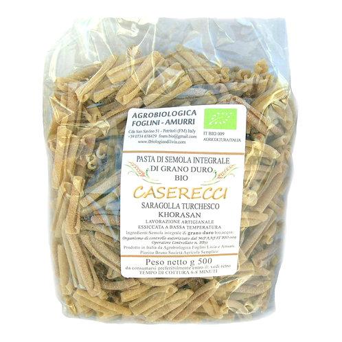 CASERECCI di Saragolla Turchesco Khorasan (semola integrale bio)confez.da 0,5 kg