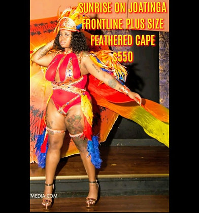 Plus Size Frontline (Feathered Cape)