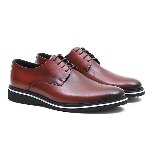 Sapato Masculino Derby Cape Town Burdeo