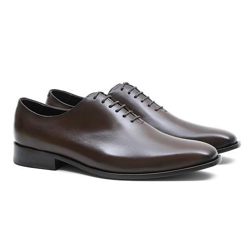 Sapato Masculino Wholecut Oxford Nápoles Café