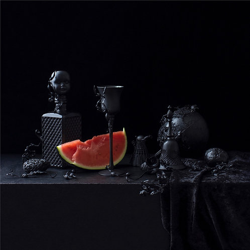 Still Life in Black with Watermelon