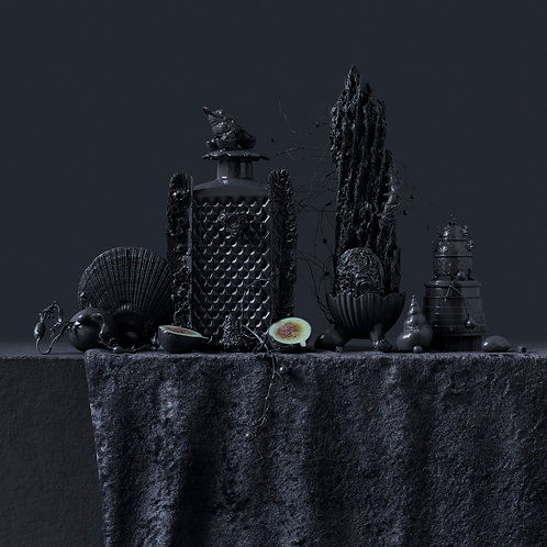 Still Life in Grey with Figs