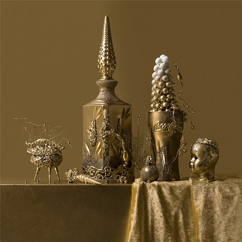 Still Life in Gold with Fizzy Coke