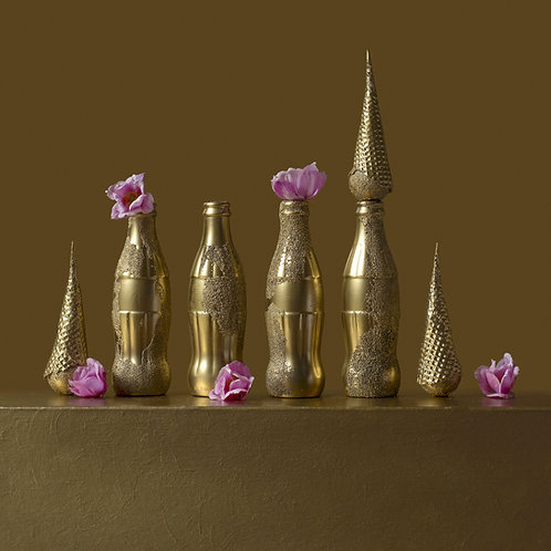 Still Life in Gold with Andy's Cokes