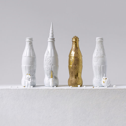 Still Life in White and Gold with Andy's Coke