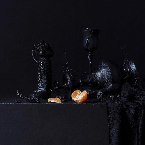 Still Life in Black with Orange