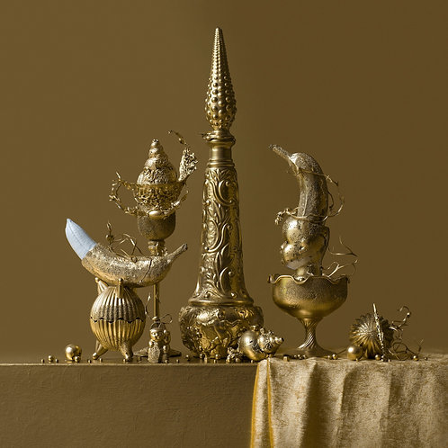 Still Life in Gold with Two Bananas