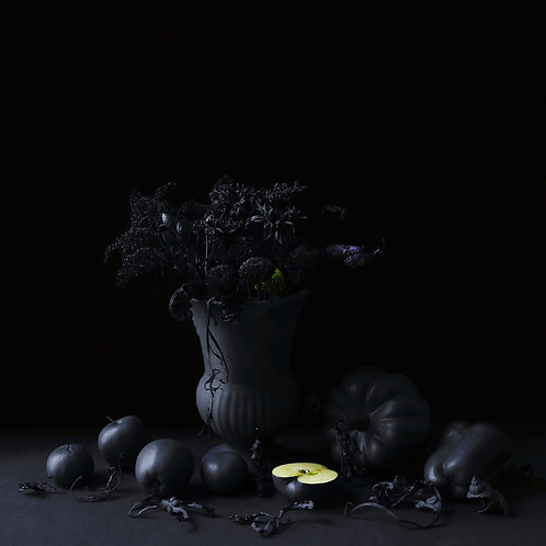 Still Life in Grey with Apples