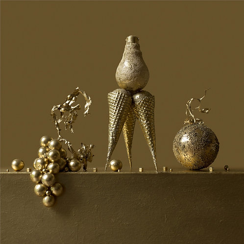 Still Life in Gold with Jasper's Light Bulb