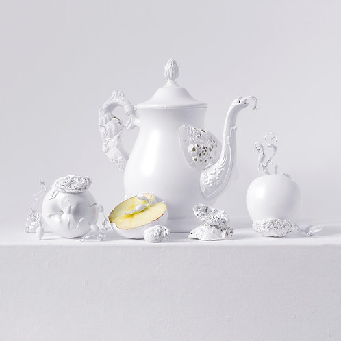 Still Life in White with Apples