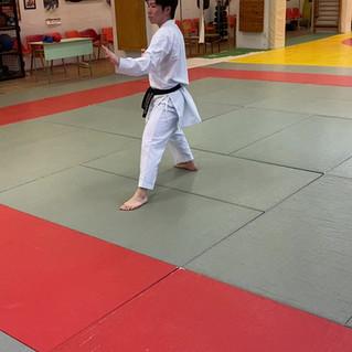 17. Shuto uke (kézél védés) védő állásban