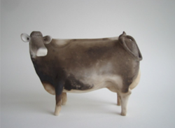Smoke-fired cow