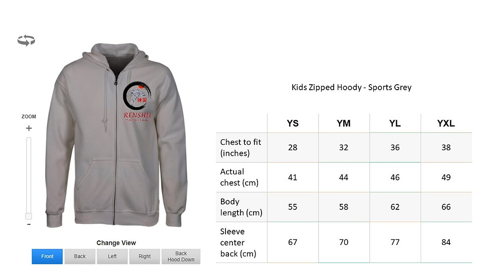 Kids Zipped Hoody