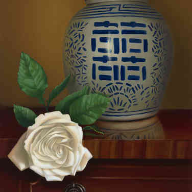 Ginger Jar with Roses
