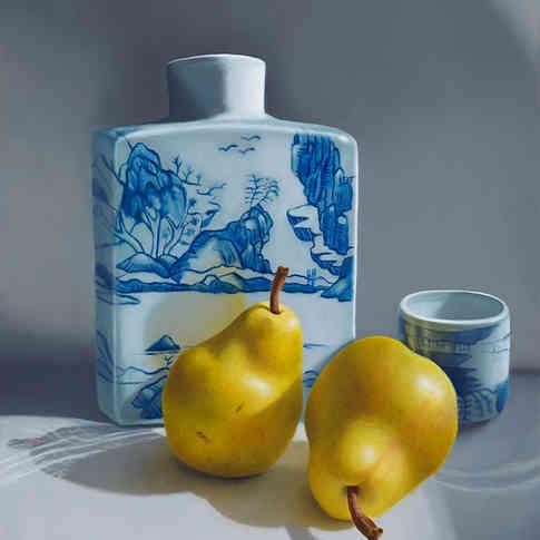 Pears and Sake Jar