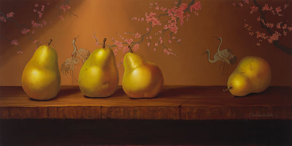 Pears in Cherry Blossoms | Sarah van der Helm