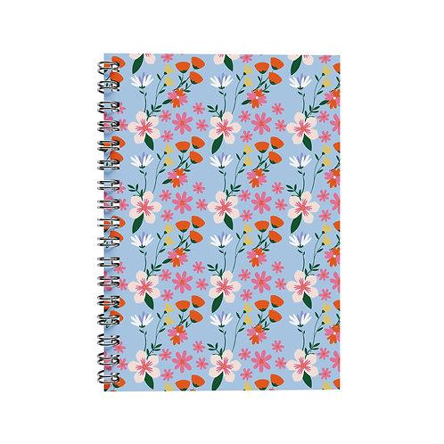 Notebook - Flowers Blue