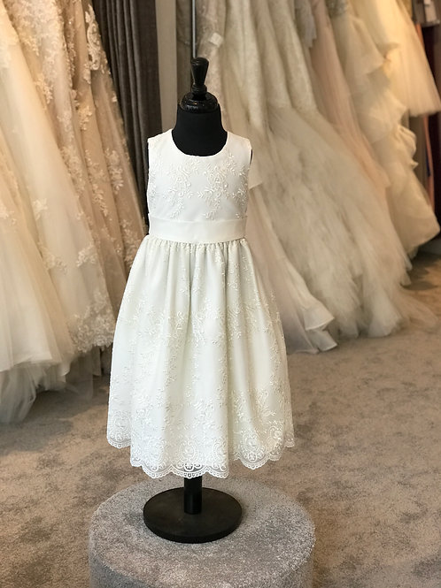 Ivory Lace Girls Occasion Dress
