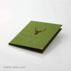 Porte-menu Duo loden Binôme