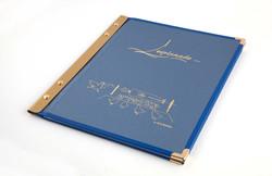 porte-menu stick tissu