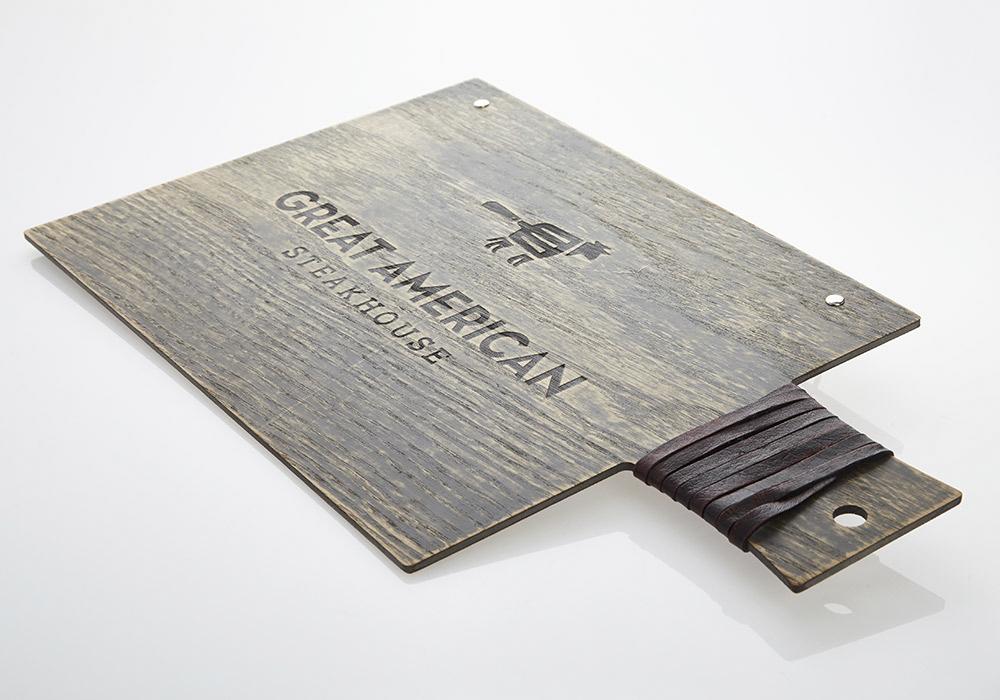 Porte-menu planche