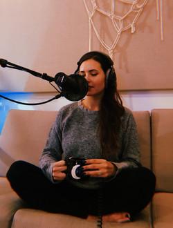 "Recording my Podcast ""Make Love"""