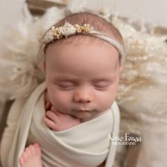 close up of sleeping newborn