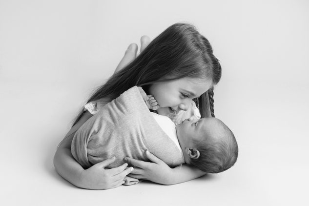 sibling black and white newborn baby boy photo photographer newport cwmbran south wales monmouth monmouthsire