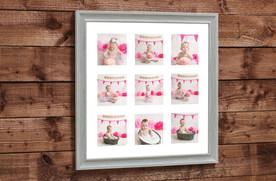 baby girls birthday wall art cake smash photo photos photoshoot photographer newport, cwmbran, monmouthshire south wales
