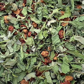 Handmade tea made from herbs grown onsite