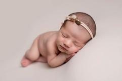 Sleeping baby on side pose