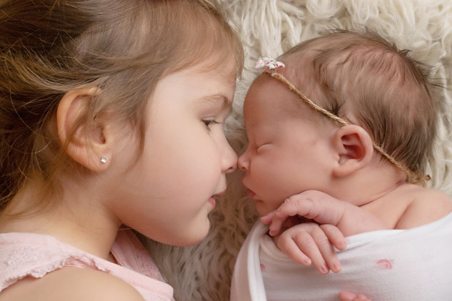 sibling newborn baby girl pink photo photographer newport cwmbran south wales monmouth monmouthsire
