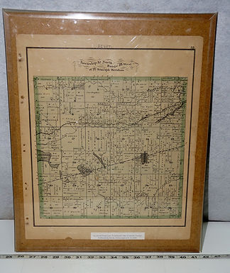 1876 Carroll County Mo, Sectional Map