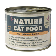 Nature Cat Food Kip, Kalkoen & Kruiden