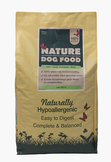 Graanvrij hondenvoer Nature dog food Lam