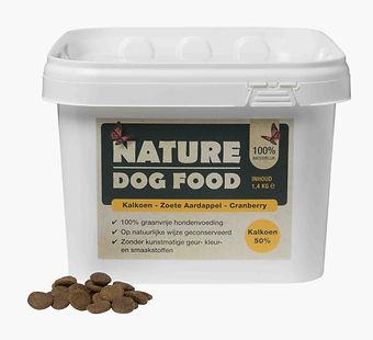 Graanvrije hondenbrokken Nature dog food met Kalkoen