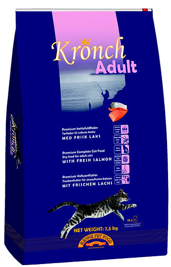 Kronch kattenbrokjes met zalm grootverpakking