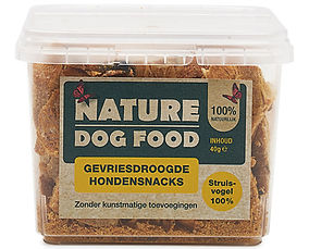Nature Dog Food-gevriesdroogde snack-struisvogel