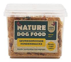 Nature Dog Food-snack-struisvogel