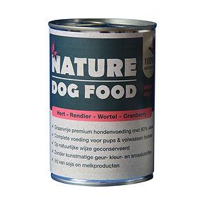 natvoer hond nature dog food hert rendier