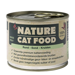 Nature Cat Food Rund, Eend & Kruiden