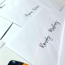 Handwritten envelopes for special celebr
