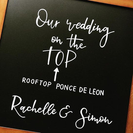 Chalk designs to welcome guests at the w