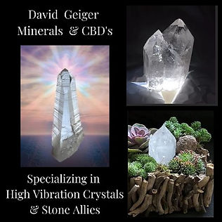 David Geiger Minerals and CBD's - Crystal Wholesaler
